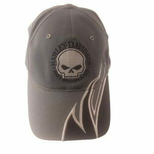 Harley Davidson Motorcycles XL Fitted Hat Gray